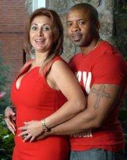 Raquel Mosquera y Tony Anikpe